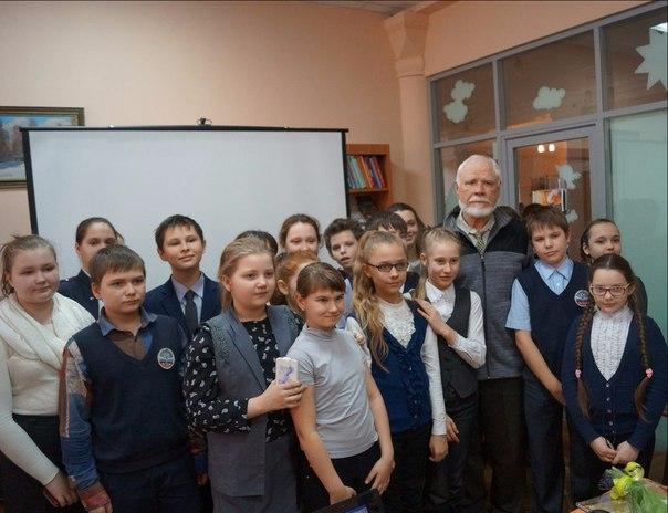 Бучарский со школьниками